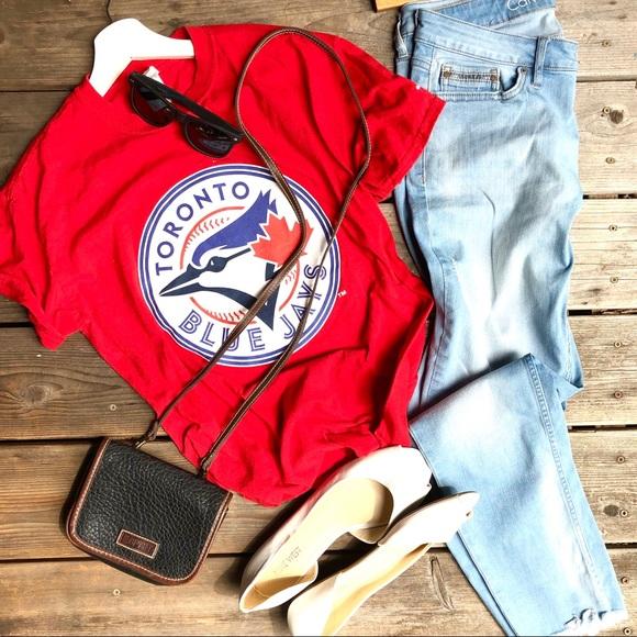 Blue Jays tee and Calvin Klein skinny jeans set
